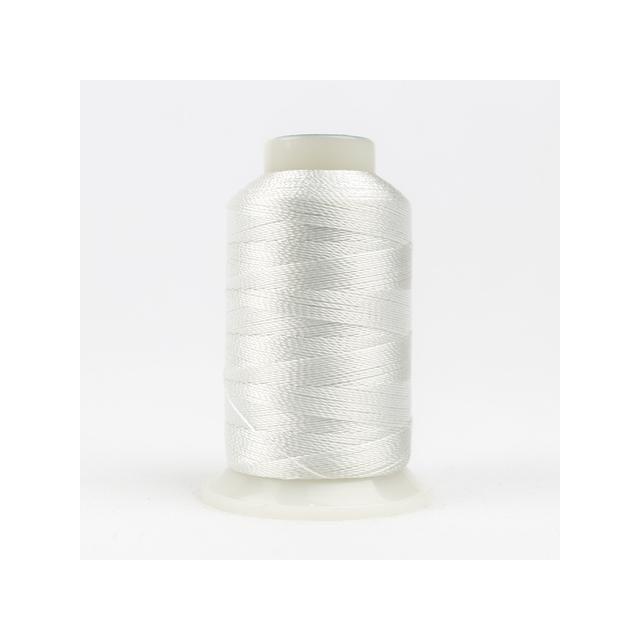 Wonderfil Accent White (AC8101) 12wt Rayon Thread 400m (437yd) spool by Wonderfil  Accent 12wt Rayon - OzQuilts