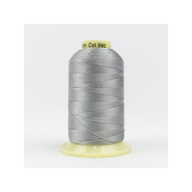 Wonderfil Accent Light Grey (AC990) 12wt Rayon Thread 400m (437yd) spool by Wonderfil  Accent 12wt Rayon - OzQuilts