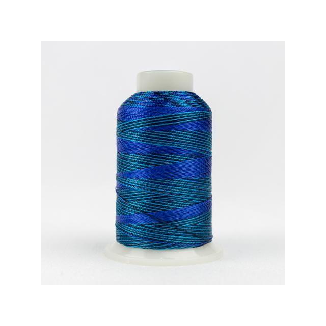 Wonderfil Accent Mediterranean Blues (ACM04) 12wt Rayon Thread 400m (437yd) spool by Wonderfil  Accent 12wt Rayon - OzQuilts