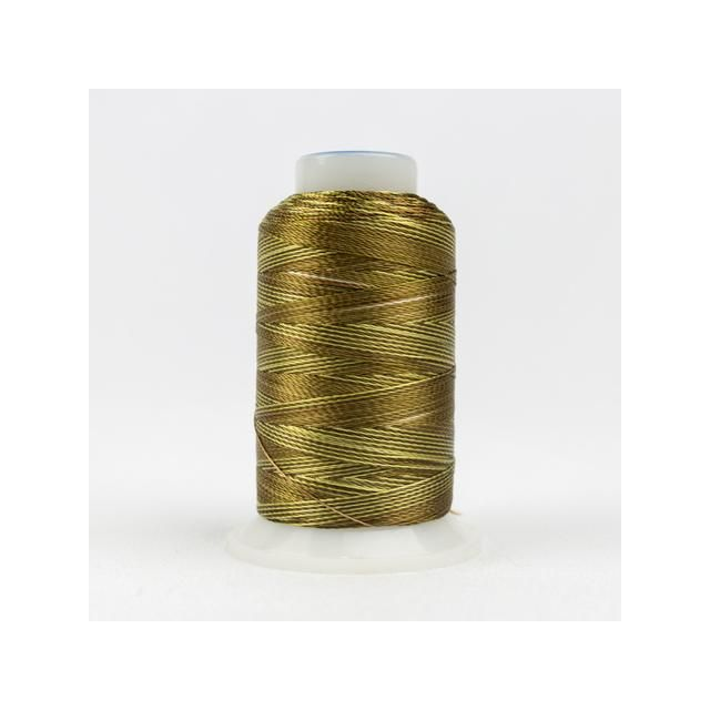 Wonderfil Accent Yellow/Green/Brown (ACM06) 12wt Rayon Thread 400m (437yd) spool by Wonderfil  Accent 12wt Rayon - OzQuilts