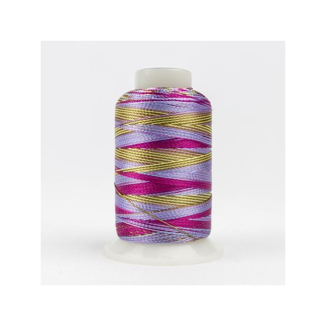 Wonderfil Accent Pink Blue (ACM12) 12wt Rayon Thread 400m (437yd) spool by Wonderfil  Accent 12wt Rayon - OzQuilts