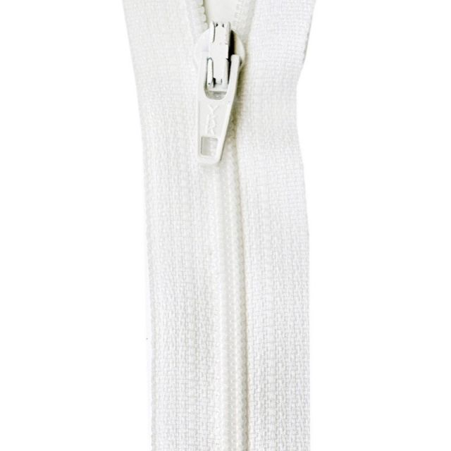 """22 inch Marshmallow Zipper by Atkinson Designs Zippers 22"""" - OzQuilts"""