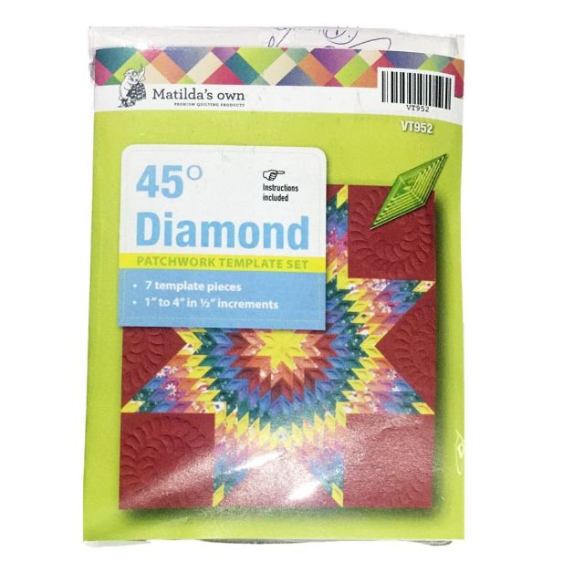 45 Degree Diamond Template Set by Matilda's Own - Quilt Blocks