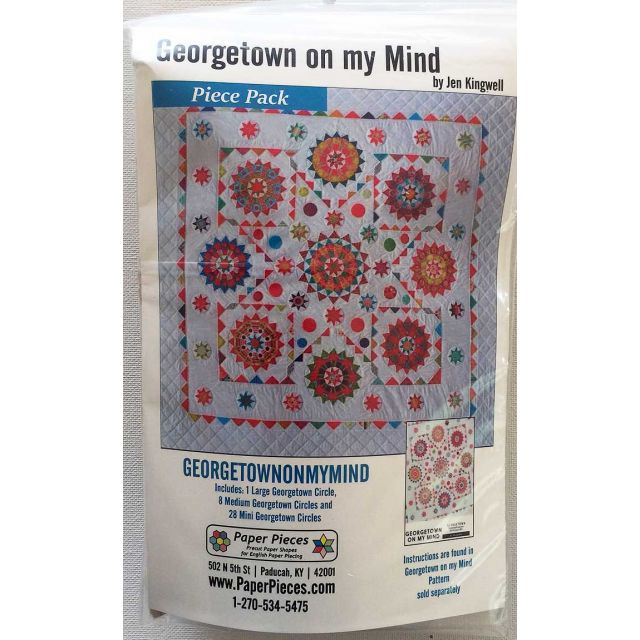 Georgetown on my Mind by Jen Kingwell Complete Paper Piecing Pack by Paper Pieces Paper Pieces Kits & Templates - OzQuilts