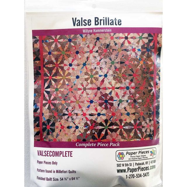 Valse Brillante By Willyne Hammerstein of Millefiori Quilts Complete Paper Piecing Pack by Paper Pieces Paper Pieces Kits & Templates - OzQuilts