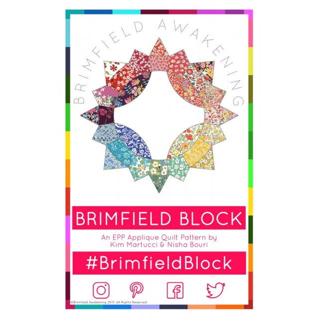 The Brimfield Block Pattern by Brimfield Awakening Paper Pieces Kits & Templates - OzQuilts