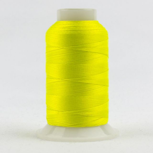 FabuLux 40wt/3ply Trilobal Polyester Neon Lemon (FB01) by Wonderfil Fabulux Fabulux 40wt Trilobal Polyester - OzQuilts