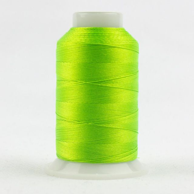 FabuLux 40wt/3ply Trilobal Polyester Neon Lime (FB02) by Wonderfil  Fabulux 40wt Trilobal Polyester - OzQuilts