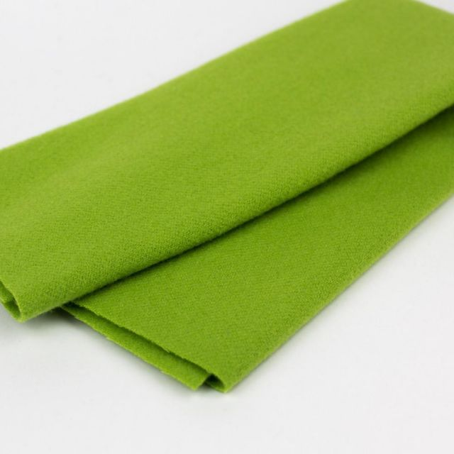 Australian Merino Wool, Electric Lime (LN13) by Sue Spargo by Wonderfil  Sue Spargo Merino Wool Fabric - OzQuilts