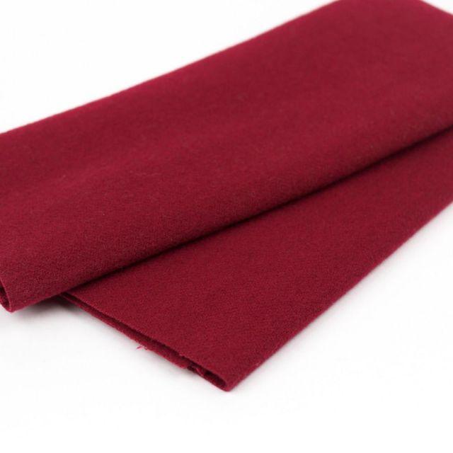 Australian Merino Wool, Dark Cerise (LN43) by Sue Spargo by Wonderfil  Sue Spargo Merino Wool Fabric - OzQuilts