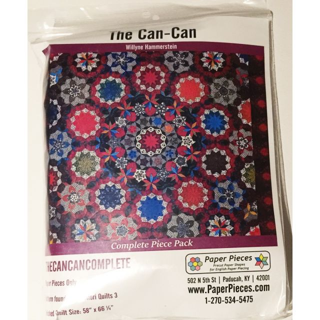 Paper Piecing Pack For The Can Can Quilt from Millefiori Quilts 3 by Paper Pieces Paper Pieces Kits & Templates - OzQuilts