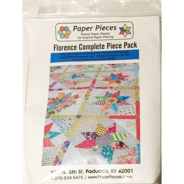 Paper Piecing Pack For The Florence Quilt by Lucy Carson Kingwell by Paper Pieces Paper Pieces Kits & Templates - OzQuilts
