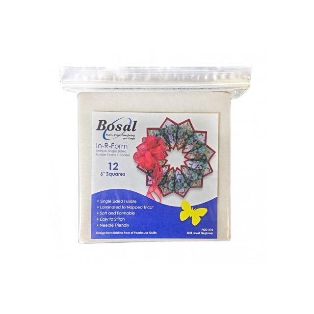 Single sided In-R-Form Precut Pack for the Fold'n Stitch Wreath Pattern by Bosal Pre-Cut Batts - OzQuilts