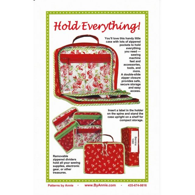 Hold Everything Bag Pattern by Annie Unrein by ByAnnie Bag Patterns - OzQuilts