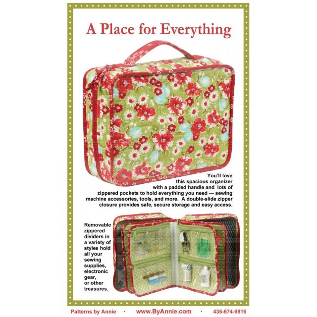 A Place For Everything Bag Pattern by Annie Unrein by ByAnnie Bag Patterns - OzQuilts