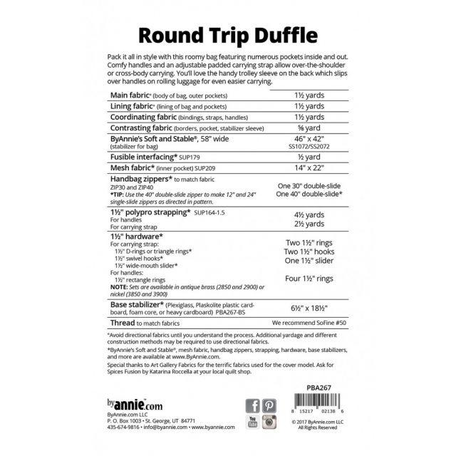 Round Trip Duffle Bag Pattern - By Annie by ByAnnie - Bag Patterns