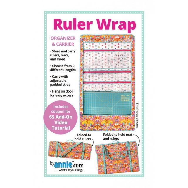 Ruler Wrap Bag Pattern by Annie Unrein by ByAnnie Bag Patterns - OzQuilts