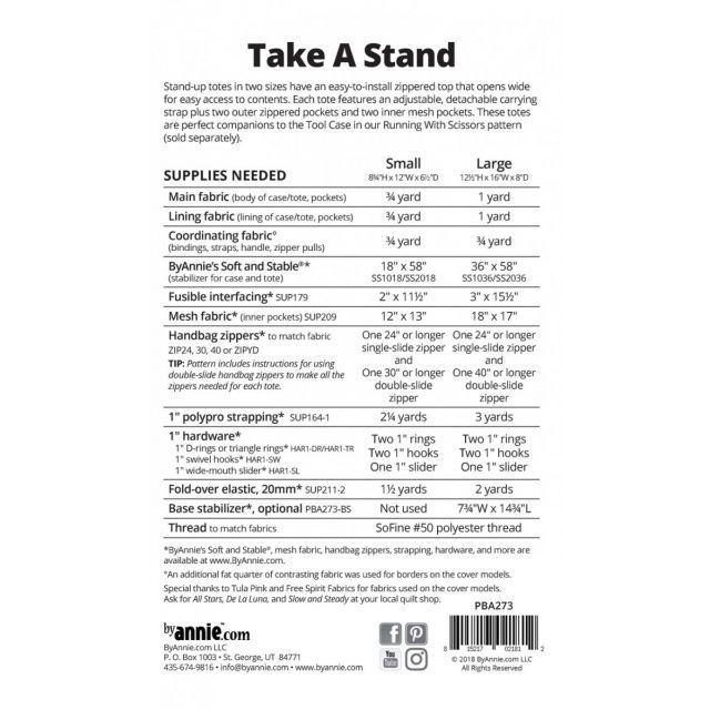 Take A Stand Bag Pattern by Annie Unrein by ByAnnie Bag Patterns - OzQuilts