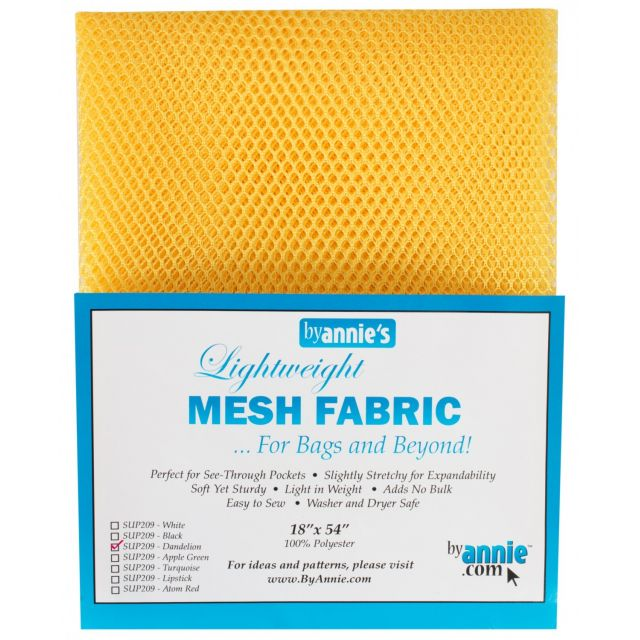 """Lightweight Mesh Fabric By Annie  18"""" x 54"""" Dandelion by ByAnnie By Annies Fabric Mesh, Vinyl, Strapping - OzQuilts"""