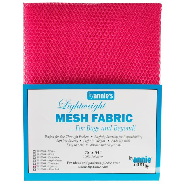 "Lightweight Mesh Fabric By Annie  18"" x 54"" Lipstick by ByAnnie By Annies Fabric Mesh, Vinyl, Strapping - OzQuilts"