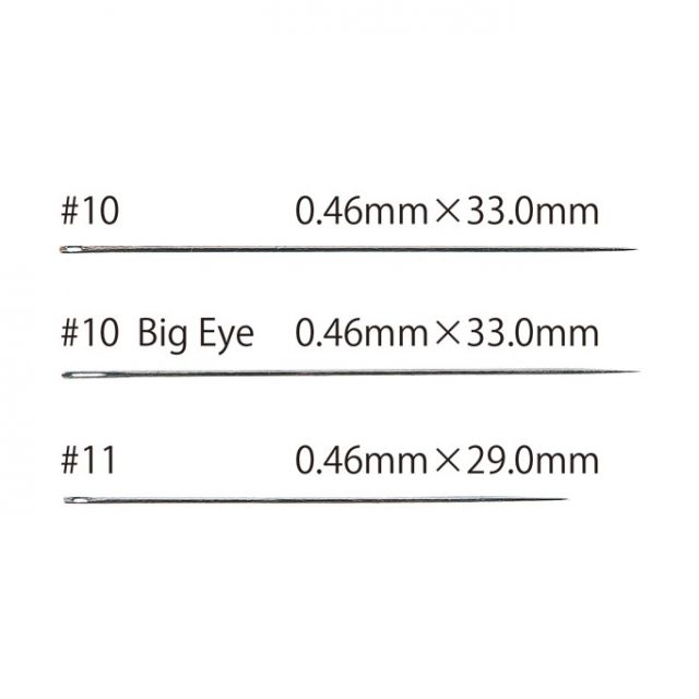 Tulip Applique Needles #10 Big Eye by Tulip - Hand Sewing Needles