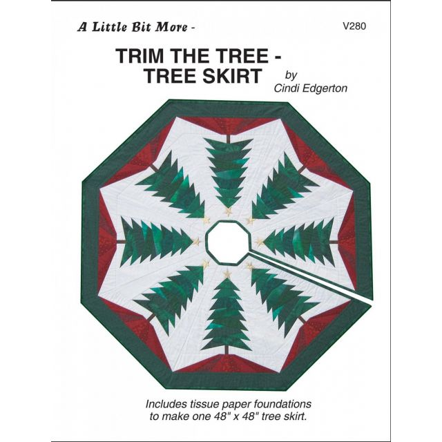 Trim the Tree Skirt Pattern and Tissue Foundation Papers by A Very Special Collection - Patterns & Foundation Papers