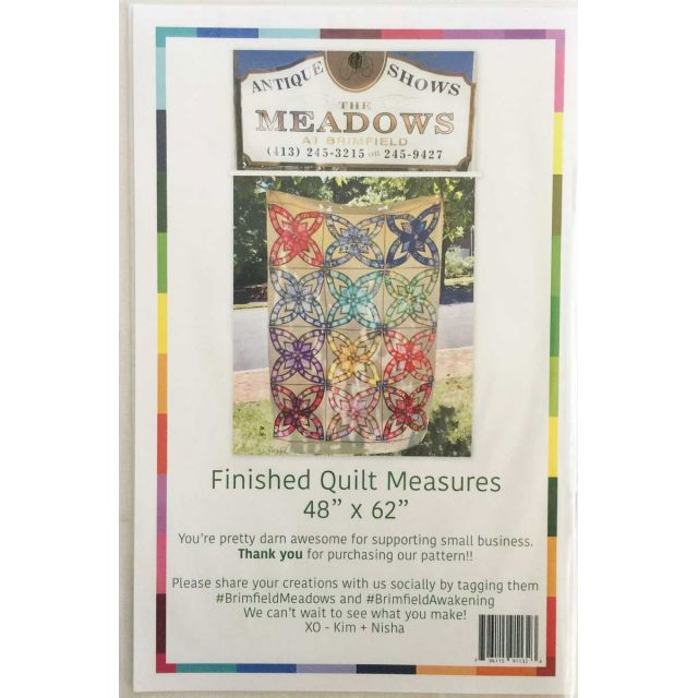Brimfield Meadows English Paper Piecing Applique Pattern by Brimfield Awakening EPP Patterns & Books - OzQuilts