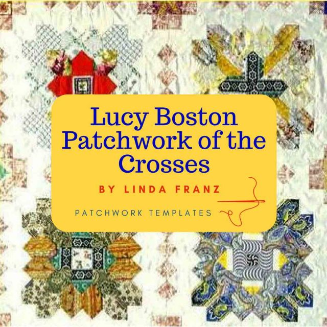 Lucy Boston Patchwork of The Crosses 1 inch Halo Bonus Template Set by OzQuilts EPP Templates - OzQuilts