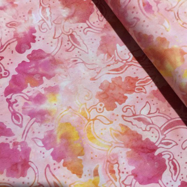 Benartex Peachy Rose Tropicana Batik by Benartex - Batik