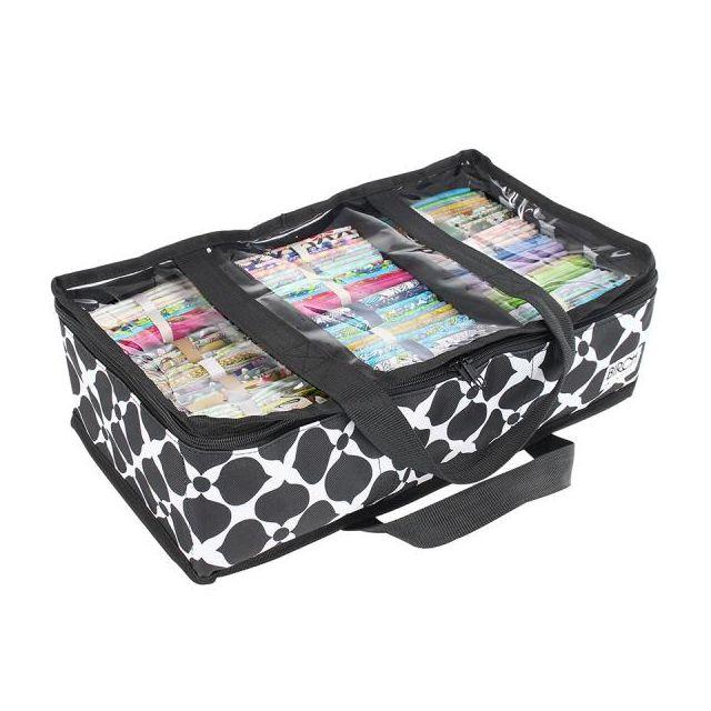 Black & White Fabric Storage Organiser - 45 x 26 x 14cm by Birch Organisers - OzQuilts