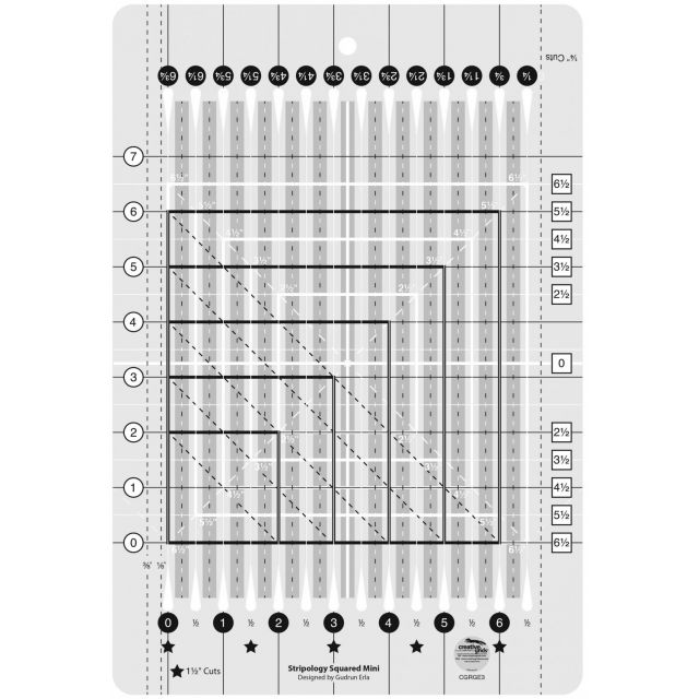 Creative Grids Stripology Mini Quilt Ruler by Creative Grids - Great Gift Ideas