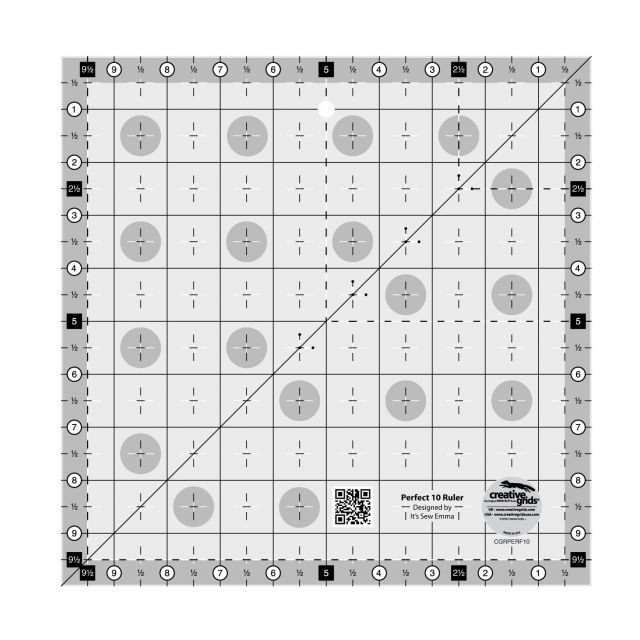 Creative Grids Perfect 10 Ruler by Creative Grids Square Rulers - OzQuilts