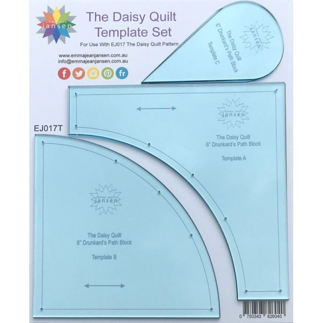 The Daisy Quilt Template Set by Emma Jean Jansen by Emma Jean Jansen Quilt Blocks - OzQuilts