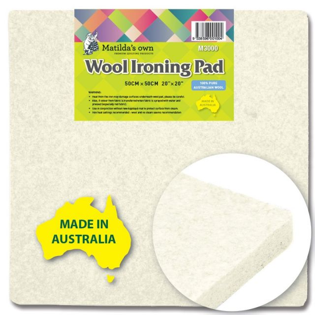 "Matilda's Own Wool Ironing Pad 50cm x 50cm / 20"" x 20"" by  Great Gift Ideas - OzQuilts"