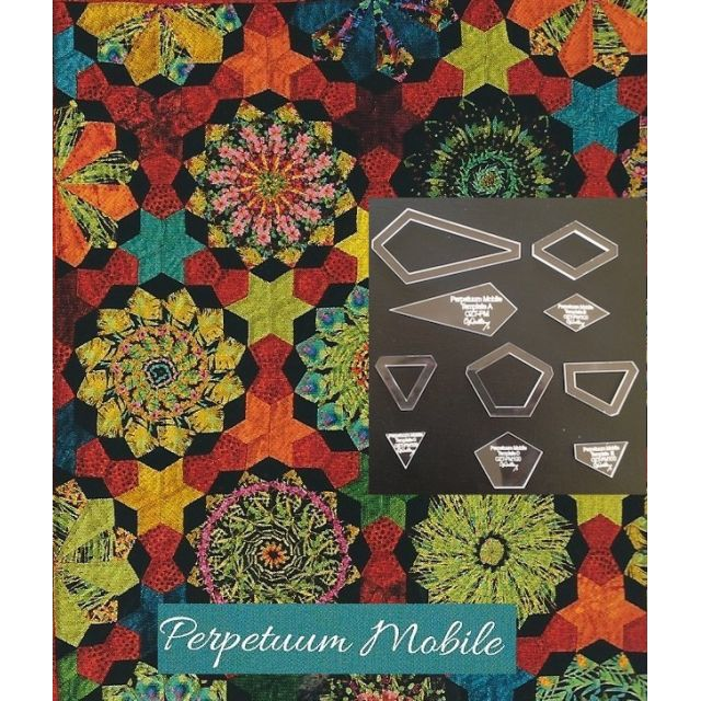 """Perprtuum Mobile Halo Template Set from Millefiori Quilts 3 - Original Size 1"""" by OzQuilts EPP Templates - OzQuilts"""