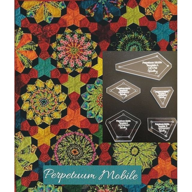 "Perprtuum Mobile Traditional Template Set from Millefiori Quilts 3 - Original Size 1"" by OzQuilts EPP Templates - OzQuilts"