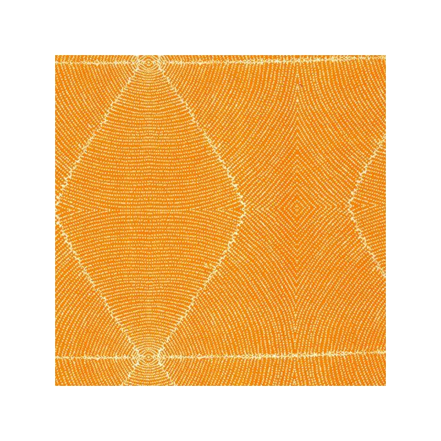 Plum Seeds Orange Australian Aboriginal Art Fabric by Kathleen Pitjara by M & S Textiles Cut from the Bolt - OzQuilts
