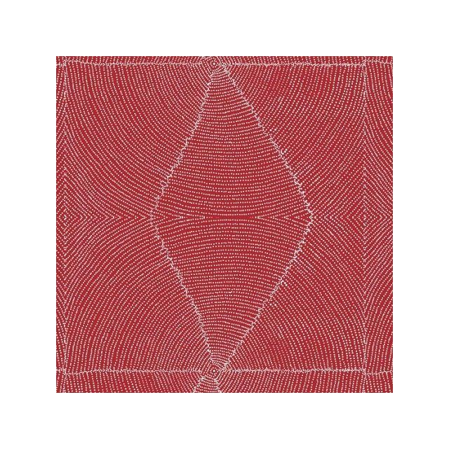 Plum Seeds Red Australian Aboriginal Art Fabric by Kathleen Pitjara by M & S Textiles Cut from the Bolt - OzQuilts
