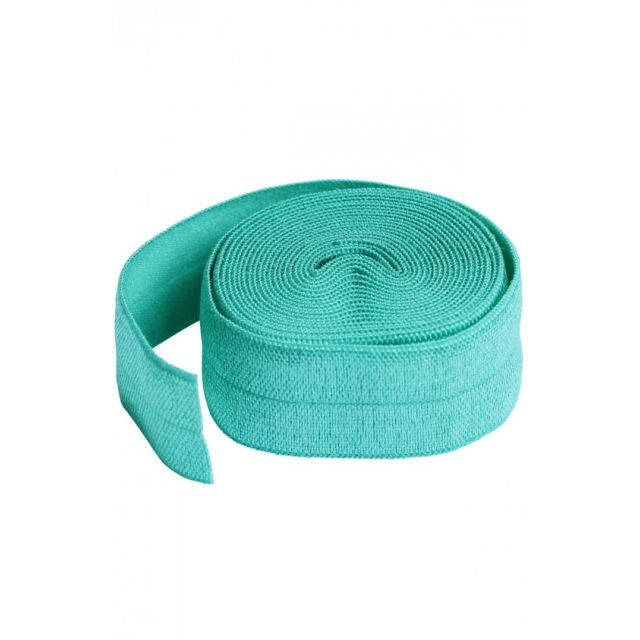By Annies Fold-over Elastic 3/4 inches wide Turquoise by ByAnnie By Annies Fabric Mesh, Vinyl, Strapping - OzQuilts