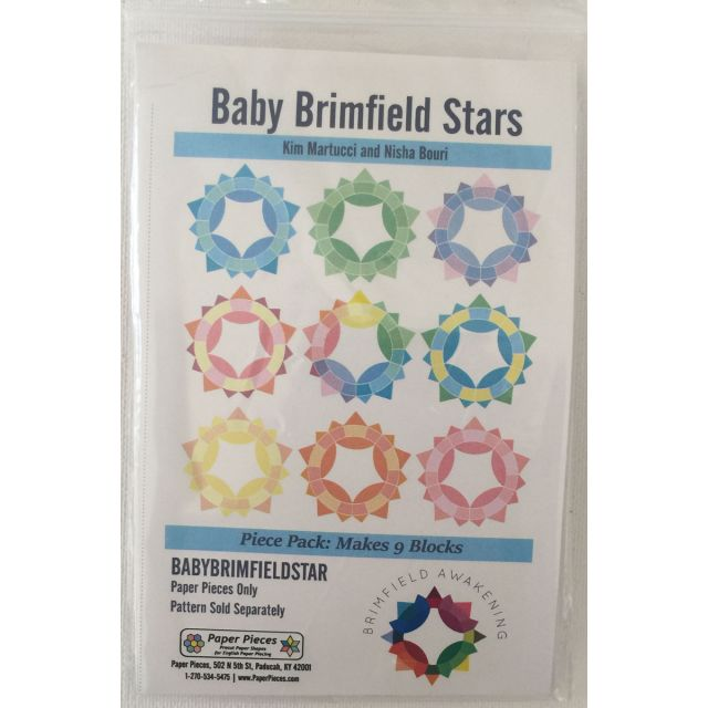 Baby Brimfield Star Paper Pieces Pack to make 9 blocks by Paper Pieces Paper Pieces Kits & Templates - OzQuilts
