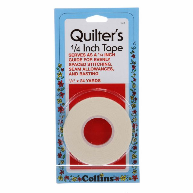 Quilters Tape 1/4 inch wide x 24 yards by Collins by Collins - Tapes