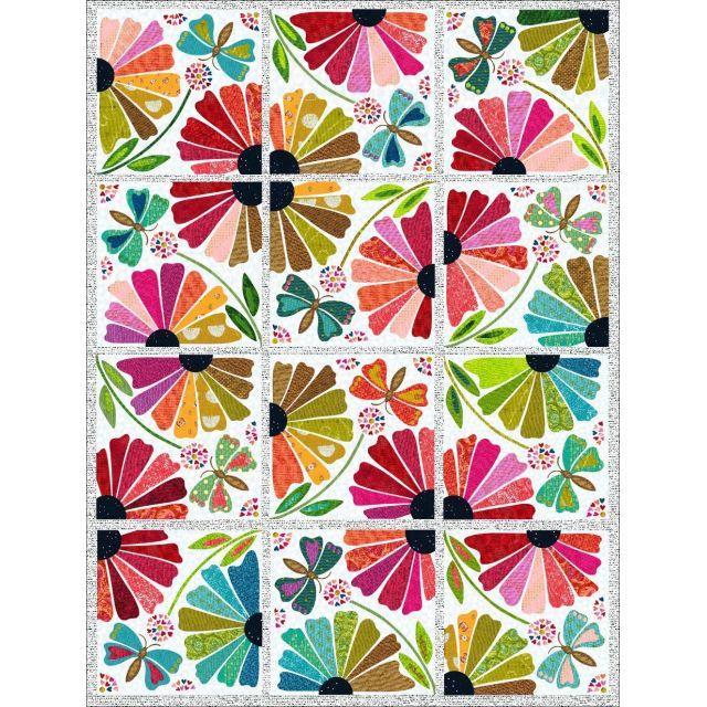 Garden Party Pattern by Laura Heine by Fiberworks - Applique