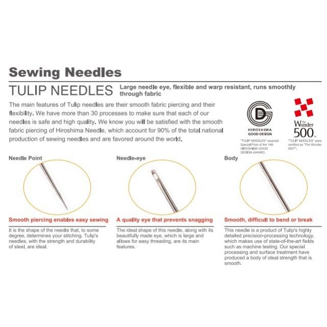Tulip Hiroshima Piecing Needles No 9 by The Tulip Company  Hand Sewing Needles - OzQuilts