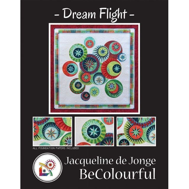 Dream Flight Quilt Pattern and Foundation Papers by Jacqueline de Jonge by BeColourful Quilts by Jacqueline de Jongue Patterns & Foundation Papers - OzQuilts