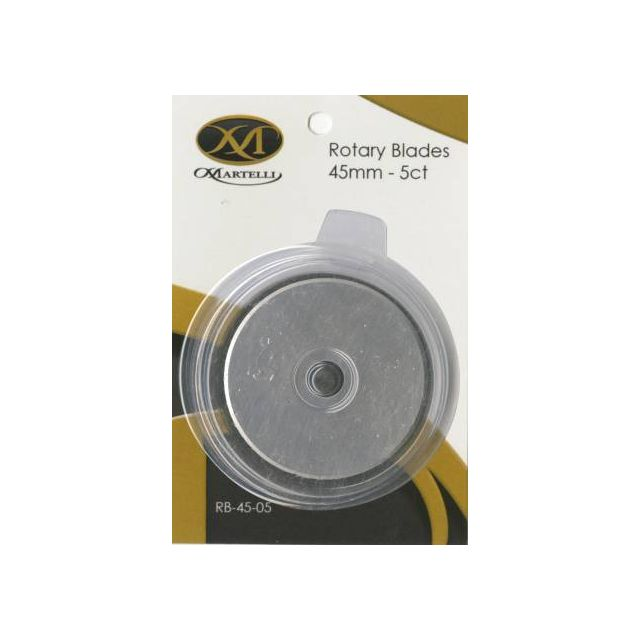 Martelli Rotary Cutter 45mm Blades (Pack of 5) by Martelli Blades - OzQuilts