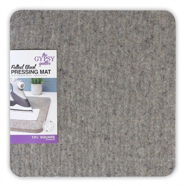 """Wool Pressing Mat 13½"""" x 13½"""" Square by The Gypsy Quilter by The Gypsy Quilter - Great Gift Ideas"""