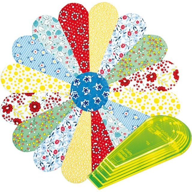 """Matilda's Own Curved Dresden Plate 10"""" to 15"""" Patchwork Template Set by Matilda's Own Quilt Blocks - OzQuilts"""