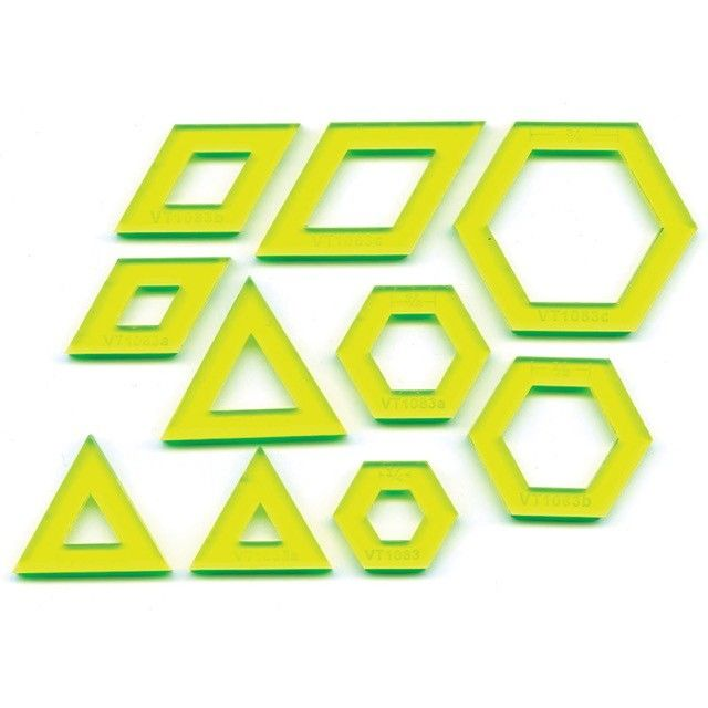 Mini Hexagons, DIamonds & Triangles Template Set by Matilda's Own - Quilt Blocks