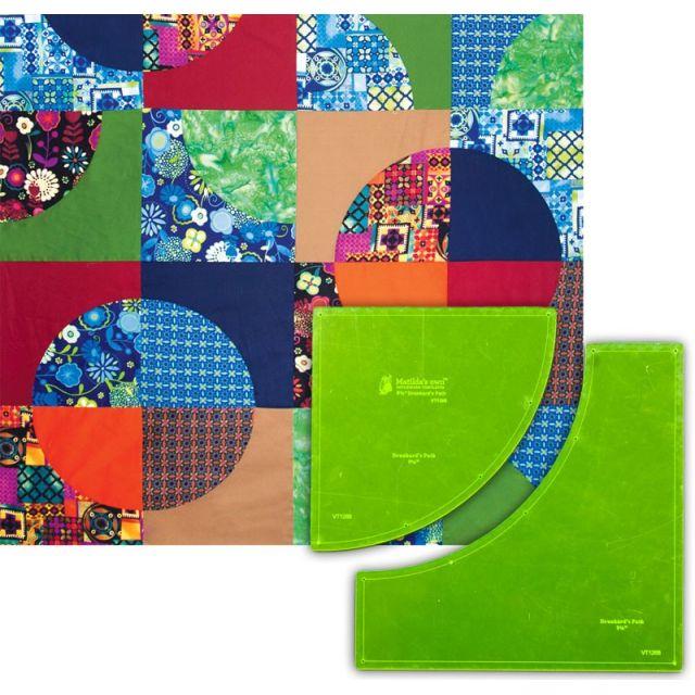"Matilda's Own Drunkards Path 9.5"" Patchwork Template Set by Matilda's Own Quilt Blocks - OzQuilts"