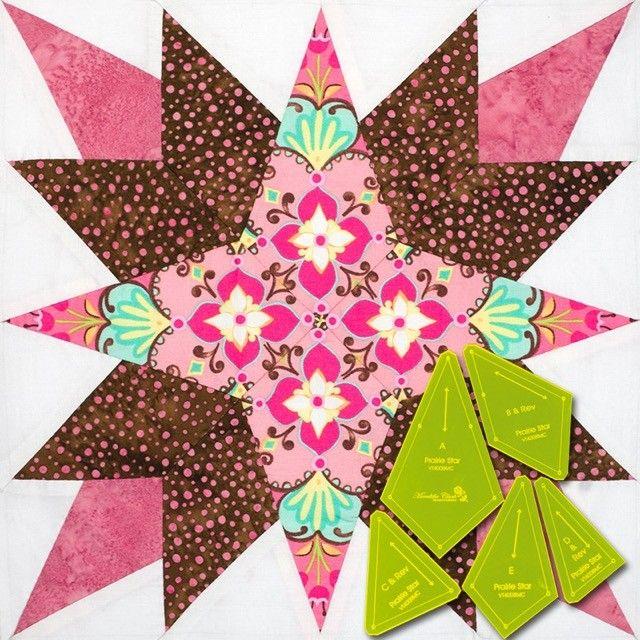 Matilda's Own Prairie Star Patchwork Template Set by  Quilt Blocks - OzQuilts